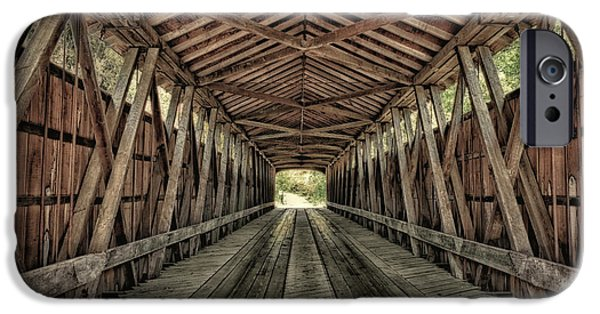 Interior Of Covered Bridge, Indiana, Usa IPhone Case by Rona Schwarz