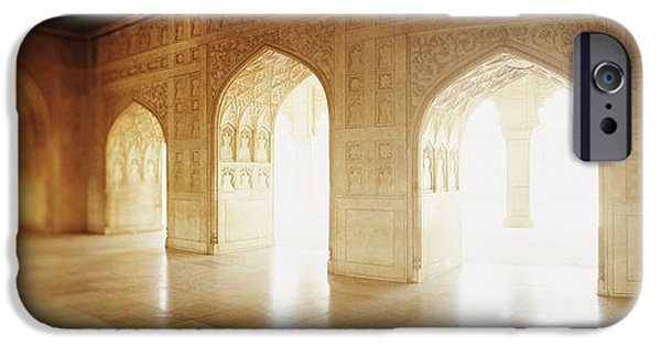 Interiors Of A Hall, Agra Fort, Agra, Uttar Pradesh, India IPhone Case by Panoramic Images