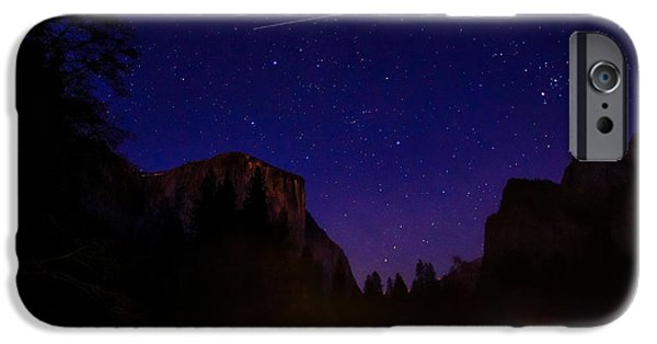 International Space Station Over Yosemite National Park IPhone Case by Scott McGuire