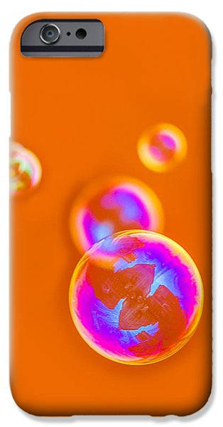 iPhone Case - Orange Bubbles IPhone Case by Alexander Senin