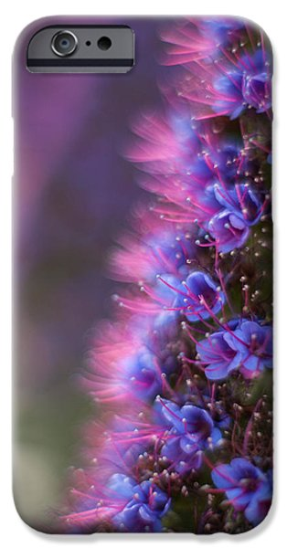 Irridescent Purple Glow IPhone Case by Mike Reid