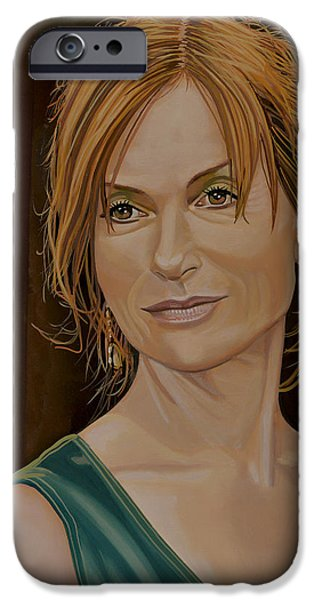 Isabelle Huppert Painting IPhone Case by Paul Meijering