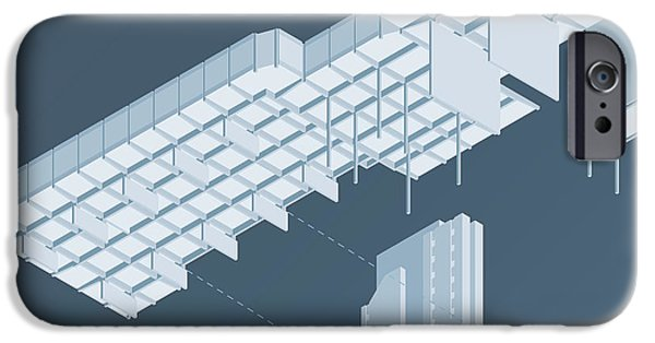 Isometric Council Chambers IPhone Case by Peter Cassidy