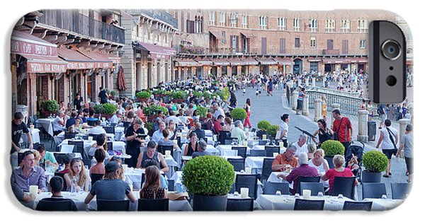 Italy, Tuscany, Piazza Del Campo - IPhone Case by Panoramic Images