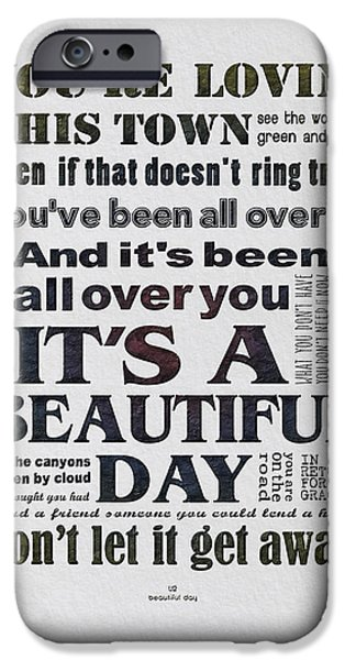 It's A Beautiful Day Typography IPhone 6s Case by Gyongyi Ladi