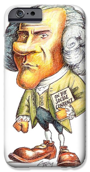 J.-j. Rousseau, Swiss-french Philosopher IPhone Case by Gary Brown