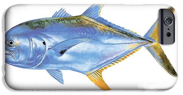 Jack Crevalle IPhone Case by Carey Chen