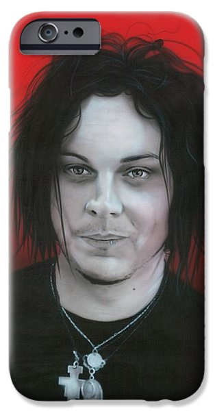 'jack White' IPhone Case by Christian Chapman Art