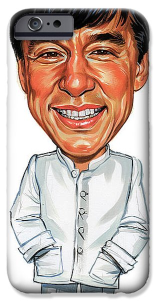 Jackie Chan IPhone Case by Art