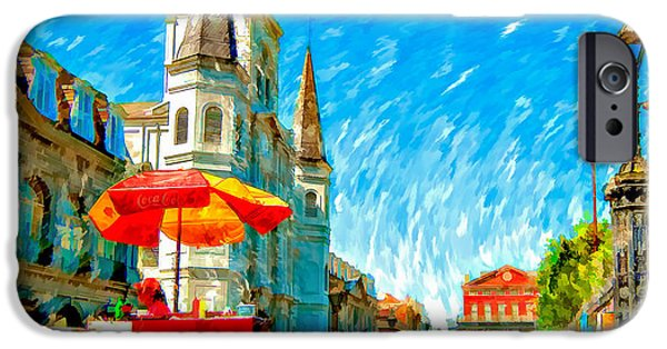 Jackson Square Painted Version IPhone Case by Steve Harrington