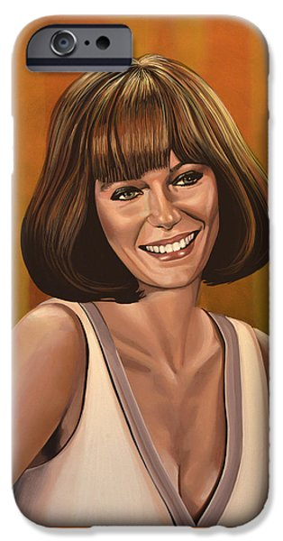 Jacqueline Bisset Painting IPhone Case by Paul Meijering