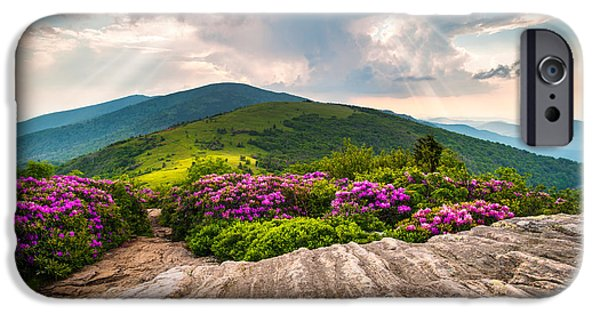 North Carolina Blue Ridge Mountains Landscape Jane Bald Appalachian Trail IPhone Case by Dave Allen