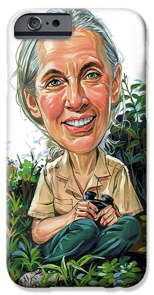 Jane Goodall IPhone 6s Case by Art