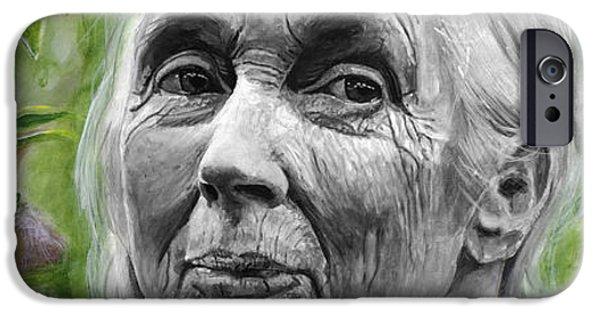Jane Goodall IPhone 6s Case by Simon Kregar