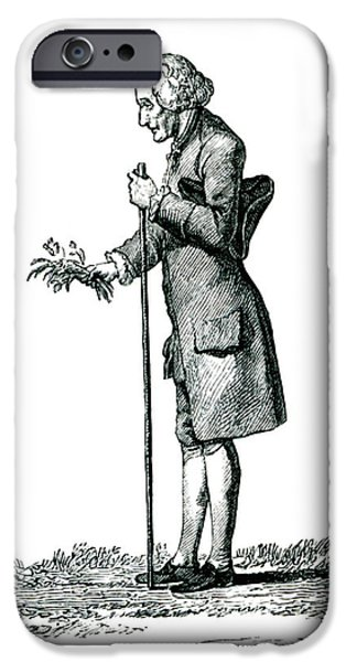 Jean-jacques Rousseau IPhone Case by Collection Abecasis