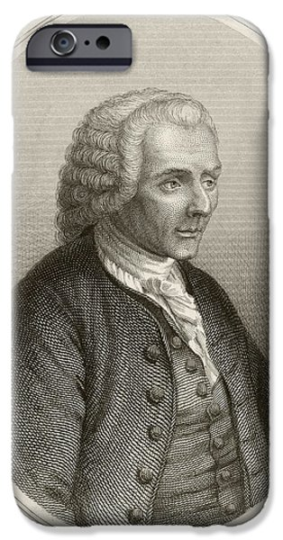 Jean Jacques Rousseau, French Philosopher IPhone Case by British Library