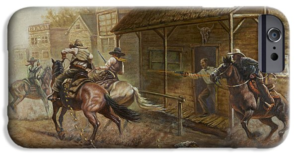 Jesse James Bank Robbery IPhone Case by Gregory Perillo