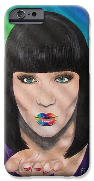 Justin Timberlake IPhone Case featuring the painting Jessie J by Jeepee Aero