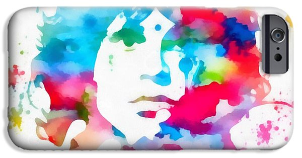 Jim Morrison Paint Splatter IPhone Case by Dan Sproul