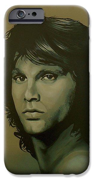 Jim Morrison Painting IPhone Case by Paul Meijering