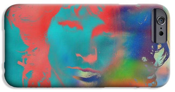 Jim Morrison Tie Dye IPhone Case by Dan Sproul