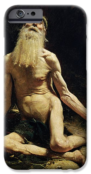 Job IPhone Case by Leon Joseph Florentin Bonnat