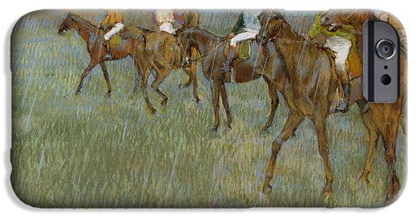 Jockeys In The Rain, C.1886 IPhone Case by Edgar Degas