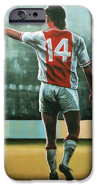 Johan Cruijff Nr 14 Painting IPhone 6s Case by Paul Meijering