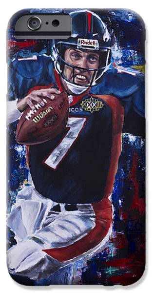 John Elway IPhone Case by Mark Courage