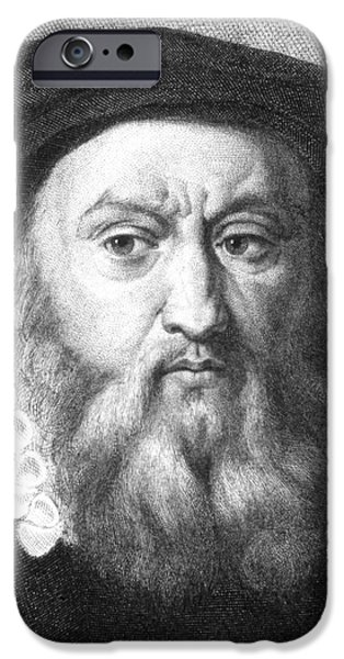 John Calvin IPhone Case by Collection Abecasis