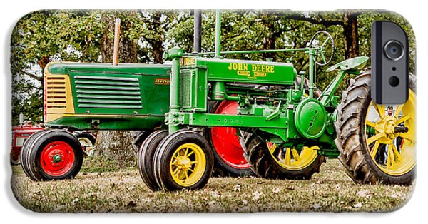 John Deere 1935 General Purpose Tractor With Oliver Row Crop 77 IPhone Case by Jon Woodhams