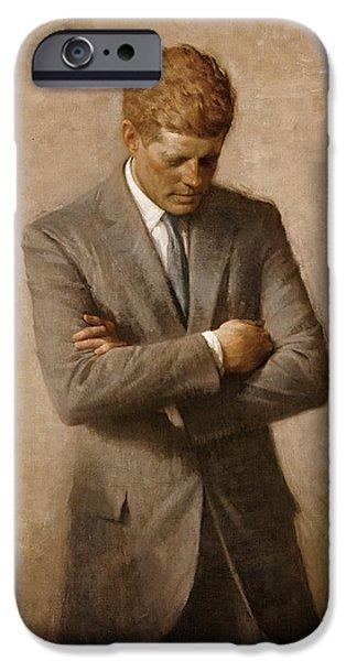 John F. Kennedy IPhone Case by Mountain Dreams