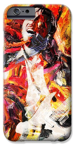 John Frusciante - Red Hot Chili Peppers Original Painting Print IPhone Case by Ryan Rock Artist