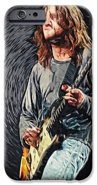 John Frusciante IPhone Case by Taylan Soyturk