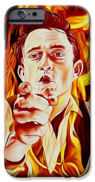 Johnny Cash And It Burns IPhone 6s Case by Joshua Morton