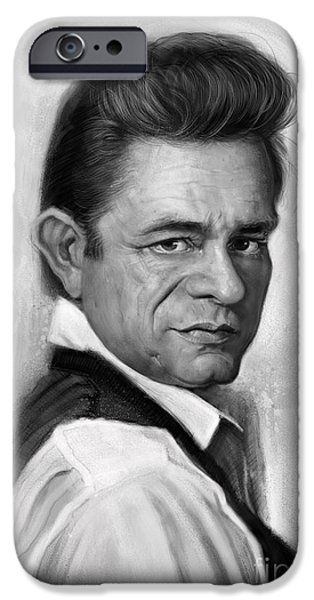 Johnny Cash IPhone 6s Case by Andre Koekemoer