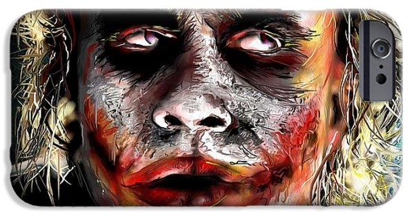 Joker Painting IPhone 6s Case by Daniel Janda