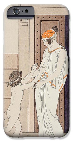 Joy Of Infancy IPhone Case by Joseph Kuhn-Regnier