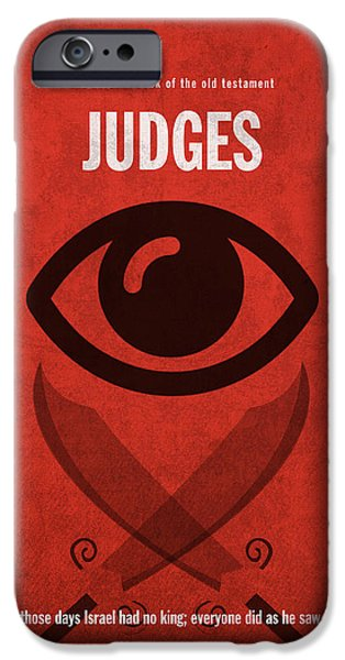 Judges Books Of The Bible Series Old Testament Minimal Poster Art Number 7 IPhone Case by Design Turnpike