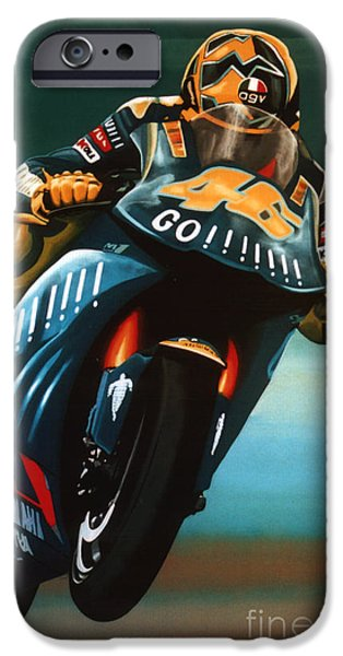 Jumping Valentino Rossi  IPhone Case by Paul Meijering