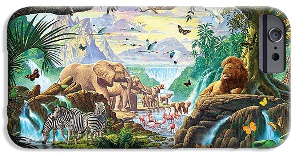 Jungle Five IPhone Case by Steve Crisp