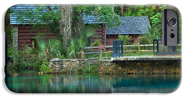 Juniper Springs Mill House Reflections IPhone Case by Adam Jewell