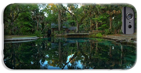 Juniper Springs Pool Reflections IPhone Case by Adam Jewell