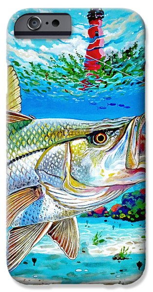 Jupiter Snook IPhone Case by Carey Chen