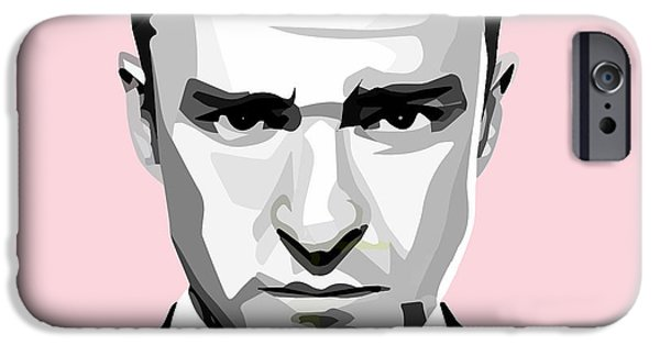 Justin Timberlake IPhone Case featuring the painting Justin Timberlake by Aura Art