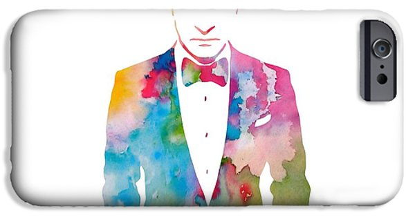 Justin Timberlake IPhone Case featuring the painting Justin Timberlake Watercolor by Dan Sproul