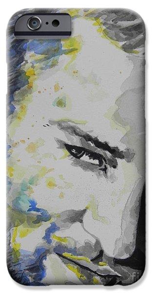 Justin Timberlake IPhone Case featuring the painting Justin Timberlake...02 by Chrisann Ellis