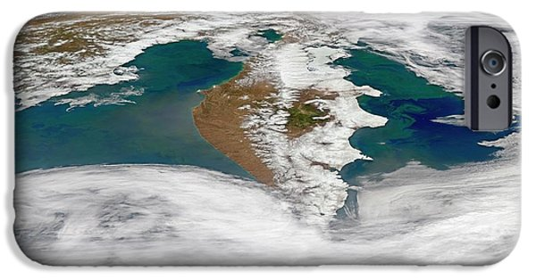 Kamchatka Peninsula Phytoplankton Bloom IPhone Case by Norman Kuring, Nasa Ocean Color Group