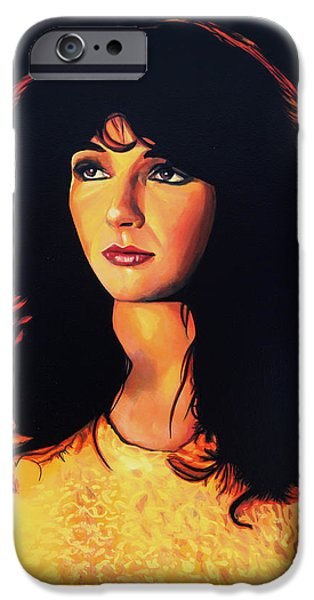 Kate Bush Painting IPhone Case by Paul Meijering