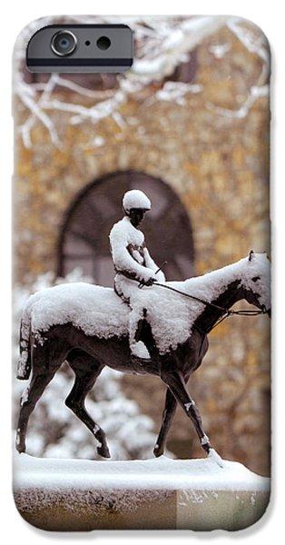 Keeneland In Winter IPhone Case by Sid Webb